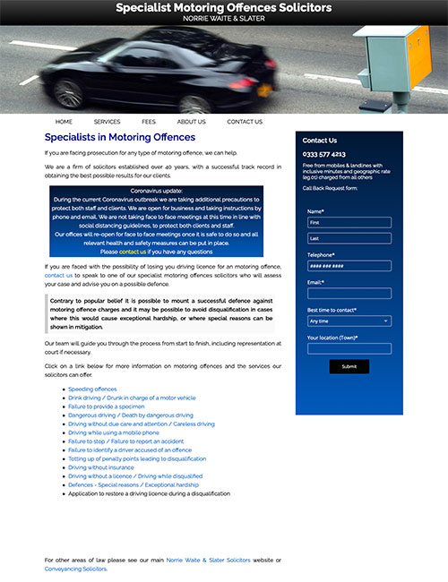 motoring offences solicitors